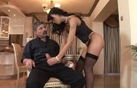 Horny maid fucks after cleaning